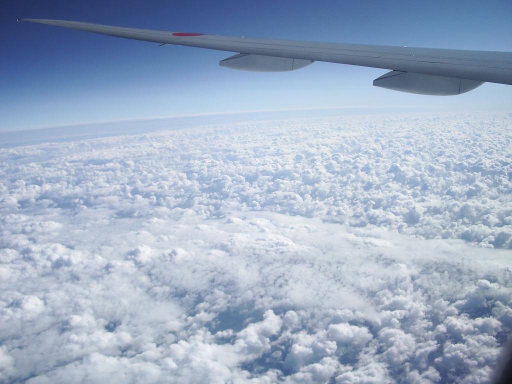 イギリスへの飛行中