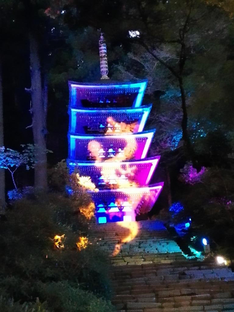 室生寺のライトアップ