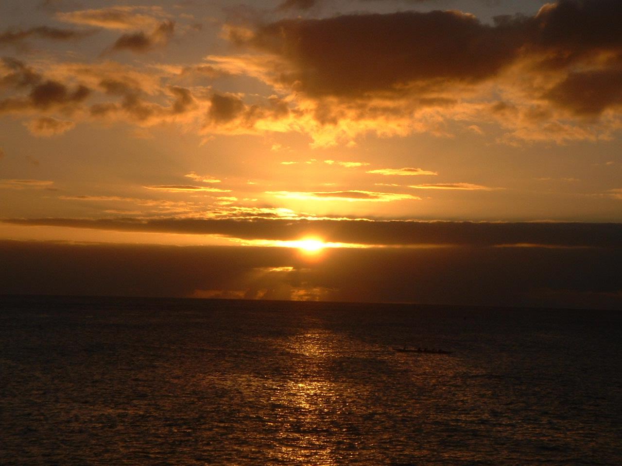 2002年ハワイの夕陽