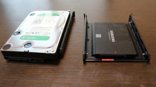 内臓 SSD と HDD